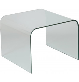 1429 - Bout de canapé design verre courbé carré