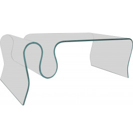 table basse design en verre tremp courb porte revues. Black Bedroom Furniture Sets. Home Design Ideas