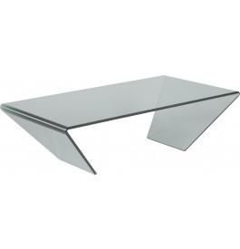 1437 - Table basse design verre courbé