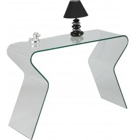 Console design verre courbé