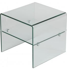 1446 - Bout de canapé verre courbé 1 rayon