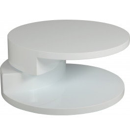 Table basse ronde articul e laqu e blanc - Table de salon ronde laquee blanc ...
