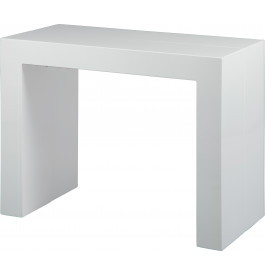 1468 - Console extensible 3 allonges laquée blanc