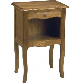 1477 - Chevet 1 tiroir 1 niche chêne
