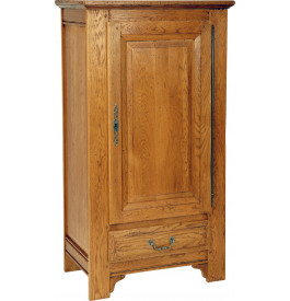 1488 - Petite bonnetière chêne massif 1 porte 1 tiroir