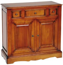 1502 - Meuble d'entrée merisier 2 portes 3 tiroirs