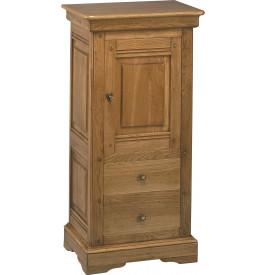 1517 - Confiturier chêne 1 porte, 2 tiroirs