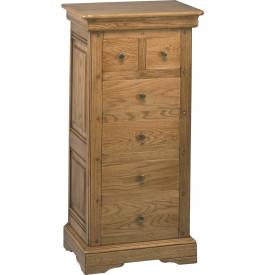 1518 - Chiffonnier chêne 6 tiroirs