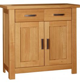 1576 - Buffet chêne 2 portes 2 tiroirs poignées métal