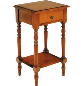 1642 - Guéridon merisier 1 tiroir