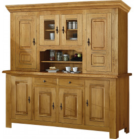 buffet vaisselier ch ne 4 portes 2 corps. Black Bedroom Furniture Sets. Home Design Ideas