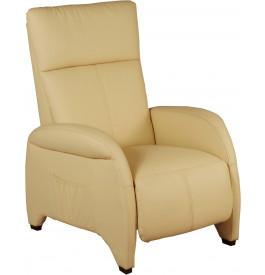 1943 - Fauteuil relaxation tissu beige repose pieds intégré