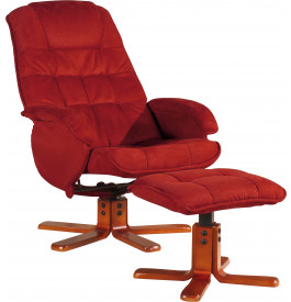 1964 - Fauteuil relaxation microfibre rouge