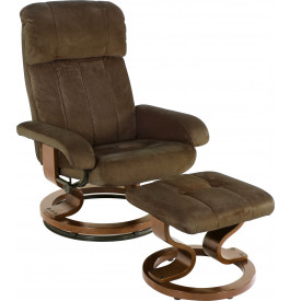 2007 - Fauteuil relaxation microfibre chocolat