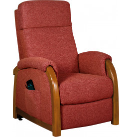 2103 - Fauteuil relaxation - releveur tissu rose framboise