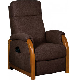 2107 - Fauteuil relaxation - releveur tissu brun truffe