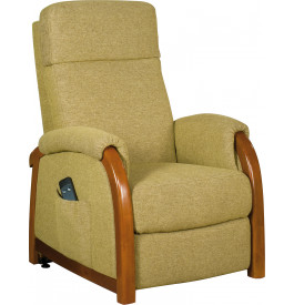 2111 - Fauteuil relaxation - releveur tissu vert anis