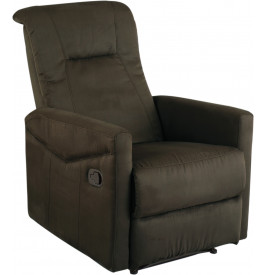 2133 - Fauteuil relaxation confort microfibre taupe