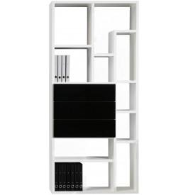 2420 - Etagère design déstructurée laque brillante 3 tiroirs