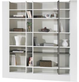 2425 - Etagère design laque blanc et gris brillants