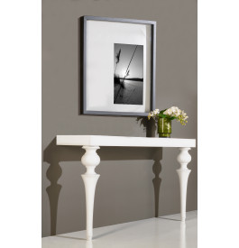 Console design laque blanc brillant pieds baroques meuble barocco style - Console laque blanc design ...