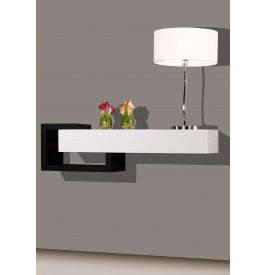 console design laque blanc et noir brillants 1 tiroir. Black Bedroom Furniture Sets. Home Design Ideas