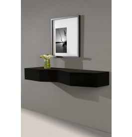 console design murale laque noir brillant 2 tiroirs. Black Bedroom Furniture Sets. Home Design Ideas