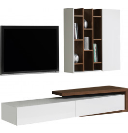 Composition design meuble tv noyer tag res - Composition meuble tv design ...