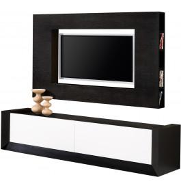 2489 - Composition design meuble TV chêne 2 tiroirs