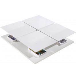 2532 - Table basse design laqué blanc 4 compartiments