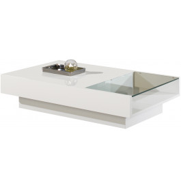 2546 - Table basse design laqué brillant 1 niche