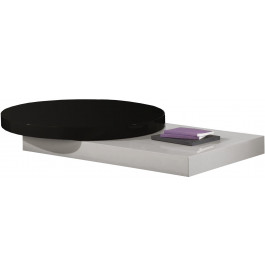 2564 - Table basse design plateau rond laqué brillant