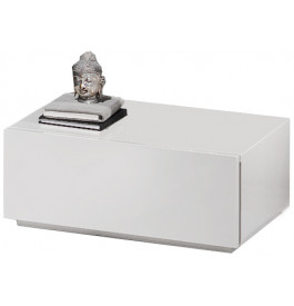 Chevet design laqu blanc brillant 1 tiroir - Table de chevet blanc laque ...