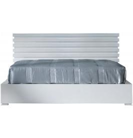 t te de lit design laque blanc brillant pour lit 160. Black Bedroom Furniture Sets. Home Design Ideas