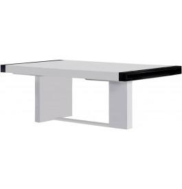 2651 - Table design rectangulaire fixe laque blanc brillant
