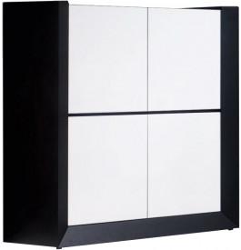 2653 - Meuble design laqué blanc 4 portes 2 tiroirs