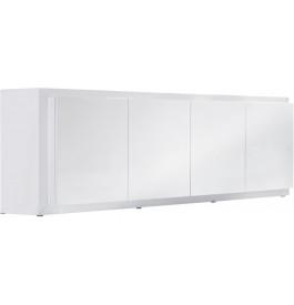 2658 - Buffet design laqué blanc 4 portes 2 tiroirs