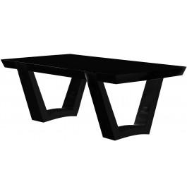 2665 - Table design fixe laque noir brillant
