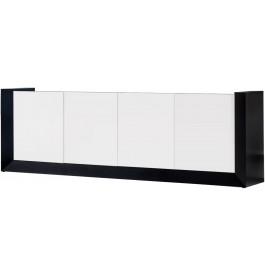 2671 - Buffet design laqué blanc 4 portes 2 tiroirs