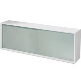 2688 - Buffet design laqué blanc 2 portes verre