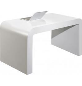 Bureau design 1 bloc laqué blanc brillant