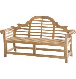 banc de jardin dossier sculpt teck. Black Bedroom Furniture Sets. Home Design Ideas