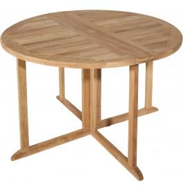 Table ronde pliante teck Ø120