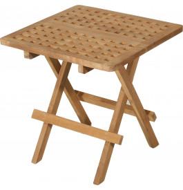 Table de pique-nique carrée teck L50