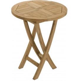 Table ronde teck pliante Ø60