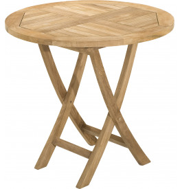 Table ronde teck pliante Ø80