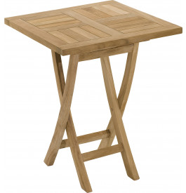 2868 - Table carrée teck pliante