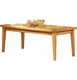3592 - Table rectangulaire chêne L200 pieds fuseau