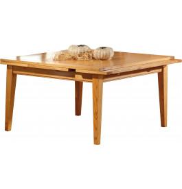 3601 - Table carrée chêne L120 pieds fuseau