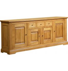 3683 - Buffet chêne 4 portes 3 tiroirs